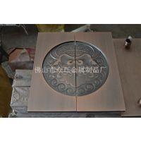 厂家直销纯铜大门拉手 铜板雕刻拉手