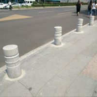 人行道安装挡车石柱 小区街道挡车花岗岩石柱子