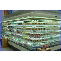 连锁超市生鲜风幕柜 冷藏奶制品展示立风柜 岳阳开放式水果保鲜柜