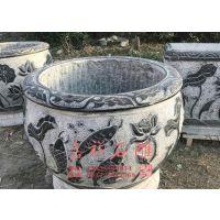 景区石雕花盆加工 古代老牛槽牛缸批发