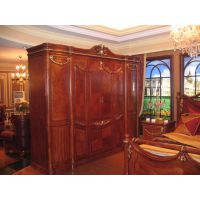 实木雕花四门衣柜 别墅家用衣柜实木 卧室家具衣柜组合可订做