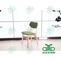 咖啡厅实木椅子定做 简约时尚餐厅椅子 舒适软包椅 深圳运达来厂家