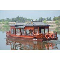 供应单层餐饮画舫,旅游观光电动木船