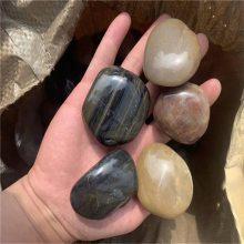 3-5公分天然黑色鹅卵石生产厂家 河北永顺鹅卵石13832111494