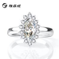 s925纯银戒指批发 高仿真钻石戒指 欧美戒指 速卖通货源 厂家订做