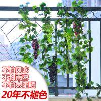 外贸批发 高仿真葡萄藤 仿真藤条假葡萄叶吊顶装饰仿真植物墙
