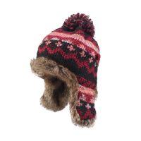 凯维帽业 秋冬超保暖女士毛线球护耳针织帽 外贸ODM出口定做