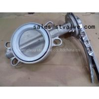 bare shaft wafer butterfly valve with PTFE seat