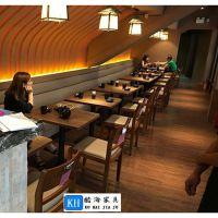 广州酷海现代中式寿司店餐桌椅2016新款热卖中