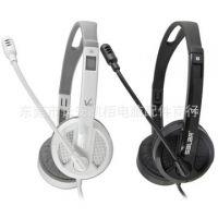 Salar/声籁 V38V电脑耳机带麦克风 单孔笔记本 立体声头戴式耳麦