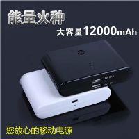 大小馒头移动电源 12000毫安手机移动电源 大容量通用移动电源