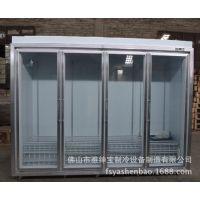 四门双边框平头展示柜/连锁便利店饮料冰柜/美宜佳款水柜