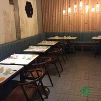 深圳茶餐厅桌子 优质大理石中餐厅餐桌定制家具 运达来家具
