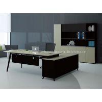 1.8/2.0/2.2 M manager office desk with side returned L shape metal frame support