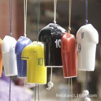 厂家直销 世界杯时尚风铃挂件 景德镇特色陶瓷挂件定制