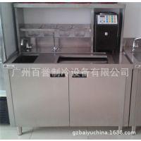 不锈钢水吧台1.2米 奶茶操作台 广州厂家水吧台 饮品店工作台
