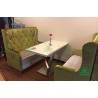 高级茶餐厅大理石餐桌 港式餐厅桌椅 中式餐厅桌子 款式可订制