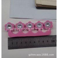 分指器贴钻 镶钻分指器 亚克力带胶钻石贴 钻贴加工厂