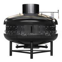 志铭实业半圆形烤鱼炉,烤鱼特色加盟