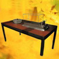 限时促销 现代休闲餐桌 方形实木烤涮一体桌 火锅桌专业定做