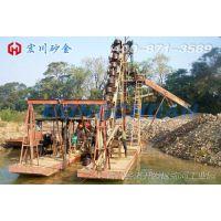 促销季:宏川供应HCWD-100大型挖斗式淘金船