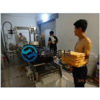 北京煎饼果次脆皮油炸生产线 有为机械全自动薄脆面片连续式油炸机