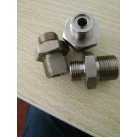 厂家直销304不锈钢六角螺纹接头,不锈钢精密零件加工、不锈钢加工