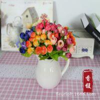QQ小玫苞小茶苞 珍珠玫仿真花假花客厅装饰花田园绢花批发