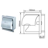 入墙式厕纸箱 卫生间手纸架 304不锈钢小卷卫生纸盒
