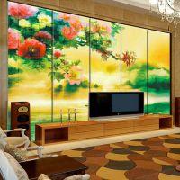ktv艺术软包壁画 酒吧背景墙仿皮革硬包壁画 宾馆花鸟艺术软包海星