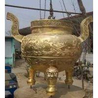 广东铸铜雕塑厂家供应 铸铜圆形香炉 四方平口鼎 广场寺庙摆件