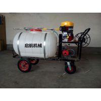 启航牌手推式拉管喷雾器 自走式打药机 200升汽油喷雾器