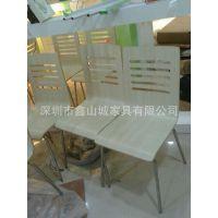 定做快餐椅 曲木餐椅 不锈钢餐椅 餐饮店餐椅 曲木椅 肯德鸡椅