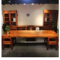 家有名木供应缅甸花梨木大果紫檀办公桌家具会议桌书桌大班台厂家直销