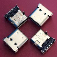 USB 3.1 TYPE-C四脚插板母座 板上型 双包壳 DIP+SMT 24PIN 前插后贴 密封