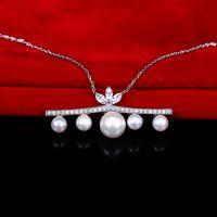 百搭珍珠项链批发 925纯银项链珍珠首饰批发 厂家供应项链批发