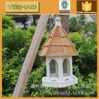 常年加工定制欧美木头鸟窝 户外园林装饰挂件鸟屋 鸟屋创意木制