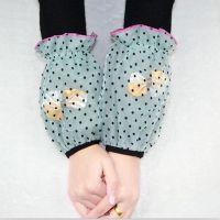 新款双层防水护袖 蝴蝶结点点袖套批发