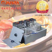 正品新粤海EF-82 商用整机加厚双缸双筛电炸炉 油炸锅 薯条电炸锅