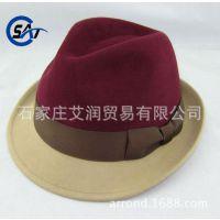 工厂供应来样来图定做出口纯羊毛呢毡春冬季男女士爵士礼帽子