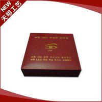 批发供应小型礼品胸章盒 植绒塑胶徽章盒 纪念币盒