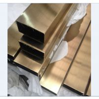 运城304镀色不锈钢管 拉丝玫瑰金不锈钢管 彩色304管