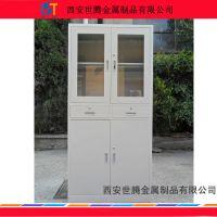 西安钢制铁皮文件柜 办公室办公储物柜凭证柜