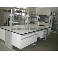 福州莆田三明 实验室全钢中央实验台 化验室工作台 钢木试验台