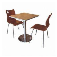 直销订购简约现代快餐桌椅 快餐厅简约美观餐椅倍斯特家具