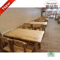 运达来定制简约全实木餐桌 餐厅实木家具 长方形餐桌椅组合 柏木餐厅家具