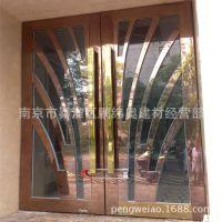 不锈钢酒店大门彩色 售楼部金店KTV装饰大门 来图来样定制加工