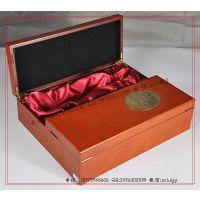【厂家订做】双开门经典酒盒 经典木酒盒 玛咖酒包装木盒加工