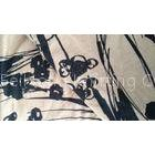 Custom Made Floral Viscose Polyester Jacquard Knit Fabric For Lingerie / Intimates