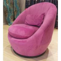 乡村风格家具|宜美仓外贸家具美式紫色布艺旋转沙发